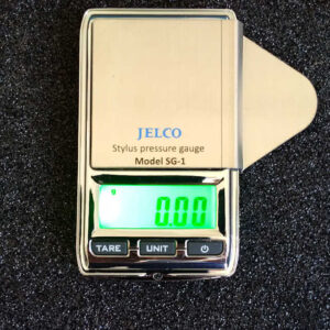 Top view of Jelco SG-1 stylus force VTF gauge