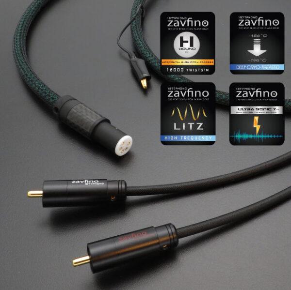 Zavfino 1877Phono Highlands Tonearm Cable, Straight DIN Plug