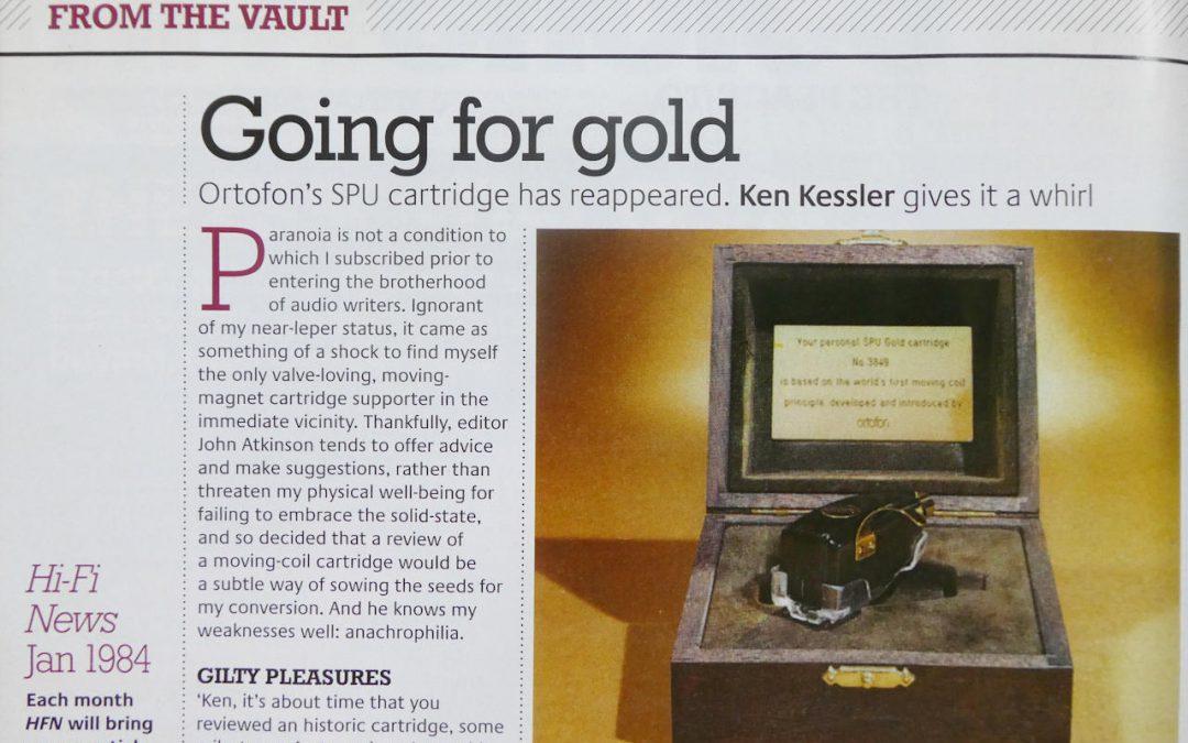Ortofon SPU 'From The Vault' HiFi News Article